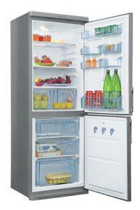 Двухкамерный холодильник - состоит из двух камер: морозильной и холодильной камеры. Каждая камера имеет отдельную дверцу.