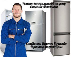 Ремонт холодильников в Монетном