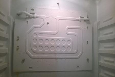 Установка испарителя холодильника