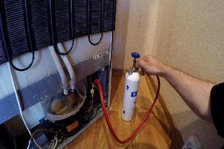 Заправка фреоном газом